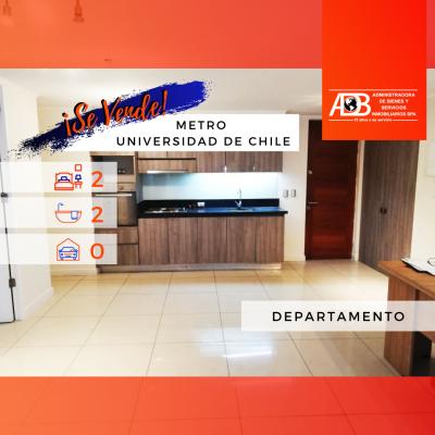 Espectacular Departamento Tipo Mariposa en Metro U de Chile